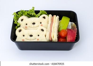 Cute Bear Sandwich with Ham Cheese
