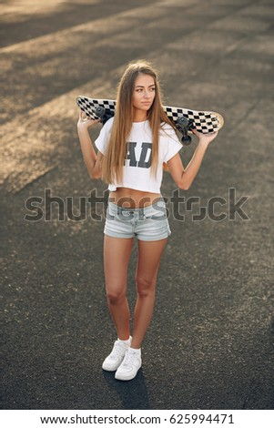 Not sexy girl in sneakers are mistaken