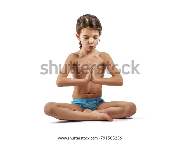 Cute Boy Long Curly Hair Swimming Stock Photo Edit Now 791505256