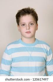 A cute boy in a pullover