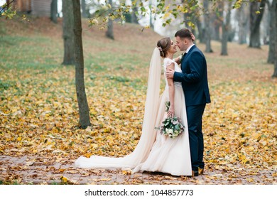 Cute bride couple spend time together after the wedding ceremony