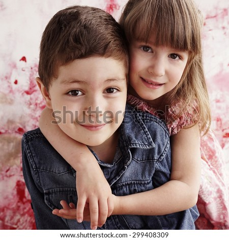 5d0eaa3d53510 Cute Brother Sister Hugging Each Other Stock Photo (Edit Now ...