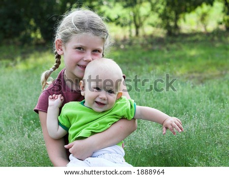 Cute Brother Sister Pair Outdoors Stock Photo Edit Now 1888964