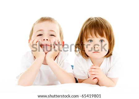 Cute Brother Sister Posing Stock Photo Edit Now 65419801