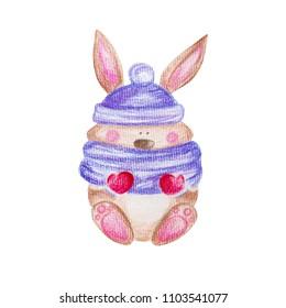 Cute bunny. Pencil drawing