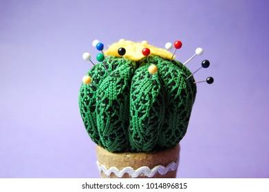 Cute cactus pin cushion