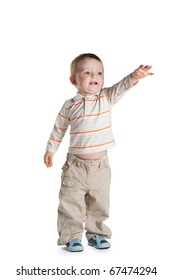 cute child shows forward