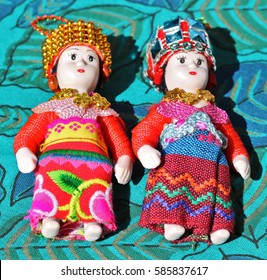 Cute and colorful doll pair
