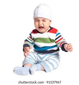 cute crying boy