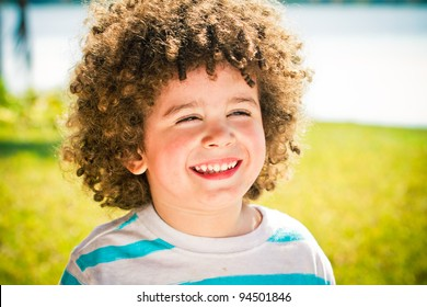 Curly Hair Boy Images, Stock Photos & Vectors | Shutterstock
