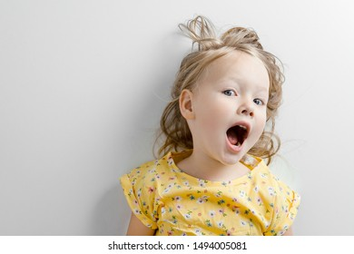 cute and emotional baby toddler smilling on white background