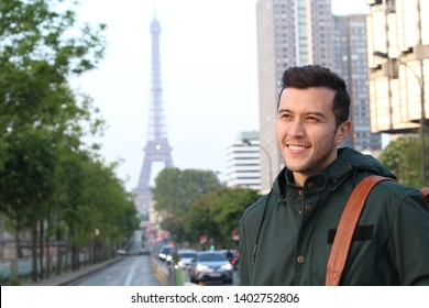 Cute ethnic young man in Paris, France