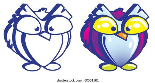 Cute Fat Owl