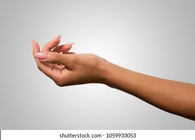 cute female hands holding something