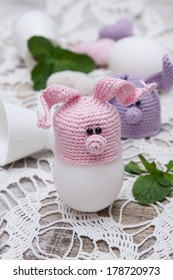 Cute funny bunny for Easter eggs