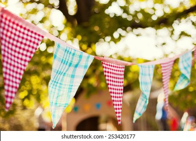 cute garland of colored flags