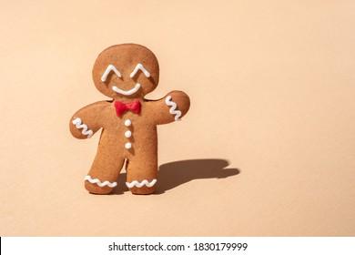 Cute Gingerbread man for Christmas card