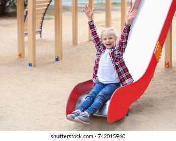 Cute girl on playground