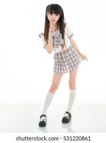 cute girl in school uniform japanese style