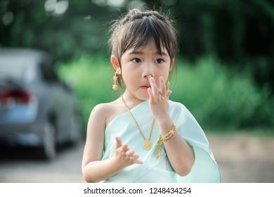 cute girl in thai suit