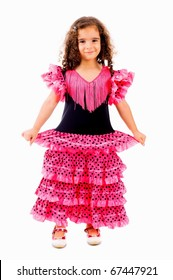 Cute Girl with typical spain dancer clothes