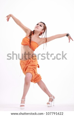 1705a4981 Cute Girl Various Dance Costumes Fun Stock Photo (Edit Now ...