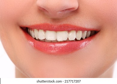 Cute girl with wide smile