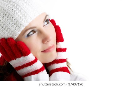 Cute girl in winter clothes