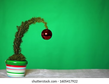 A cute grinch Christmas tree.