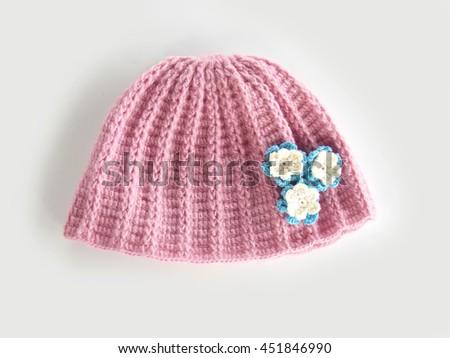 eeb54fb2 Cute Handmade Crochet Hat Stock Photo (Edit Now) 451846990 ...