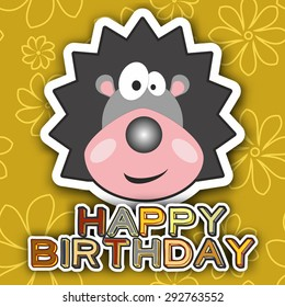 Cute happy birthday card with funny crew cut.