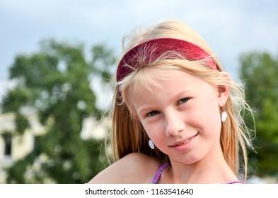 Cute happy girl portrait
