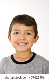 Cute and happy little boy