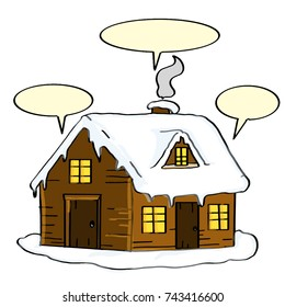 cute home and winter and speaking