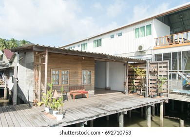 Cute house above the sea for resting in the holiday at Ko Lanta, Thailand
