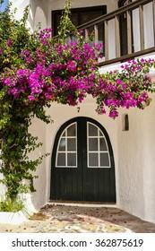 Cute house entrance at Binibeca
