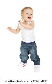 Cute kid dances