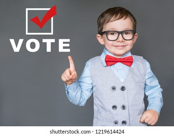 Cute Kid encouraging others to register and vote