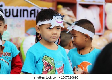 Cute kids are playing with friends at school, Children's Day, Jan 2018, Lamphun Thailand.