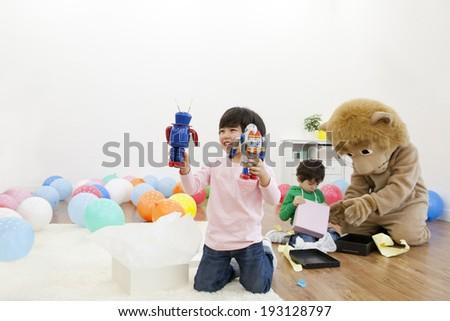 Cute Korean Kids Playing Toys Stock Photo Edit Now 193128797