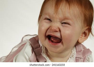 Cute laughing baby girl