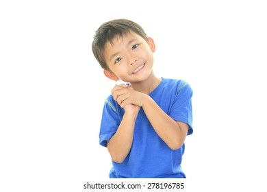 Cute little Asian boy smiling