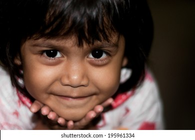 cute little asian girl with smiling face