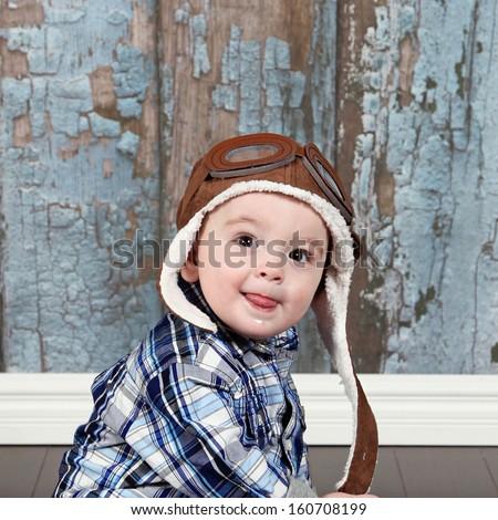 Cute Little Baby Boy Posing Camera Stock Photo Edit Now 160708199