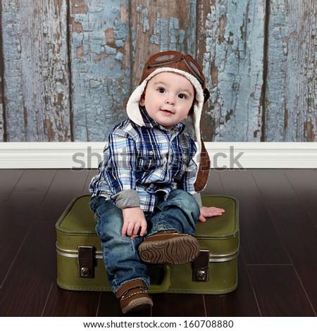 Cute Little Baby Boy Posing Camera Stock Photo Edit Now 160708880