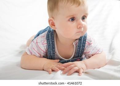 Cute little baby girl portrait