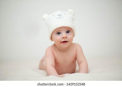 cute little baby having fun