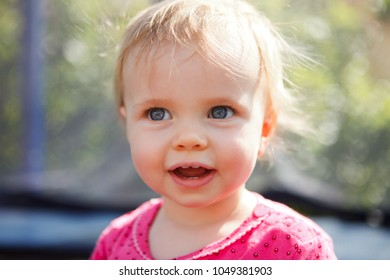 cute little baby  outdoor smiling