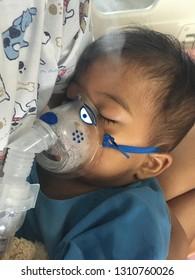 Cute little baby sick