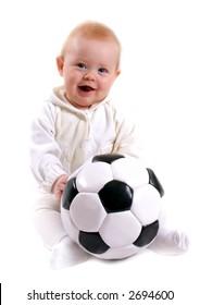 cute little baby soccer ball